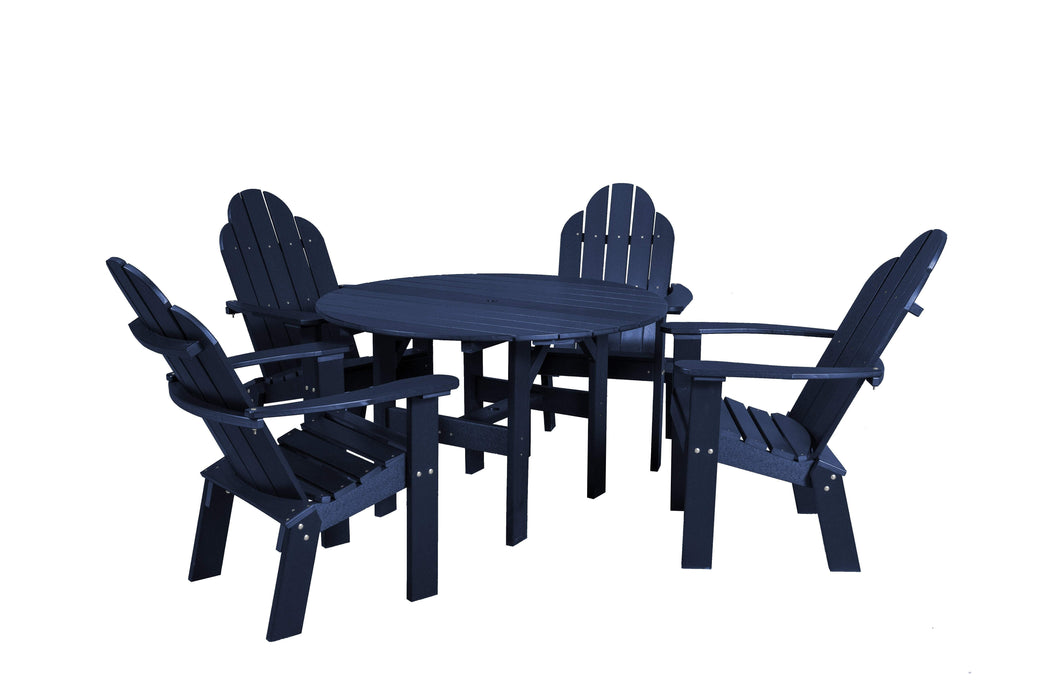 Wildridge Wildridge Classic Recycled Plastic 5 Piece Seating Set Patriot Blue Dining Sets LCC-280-PAB