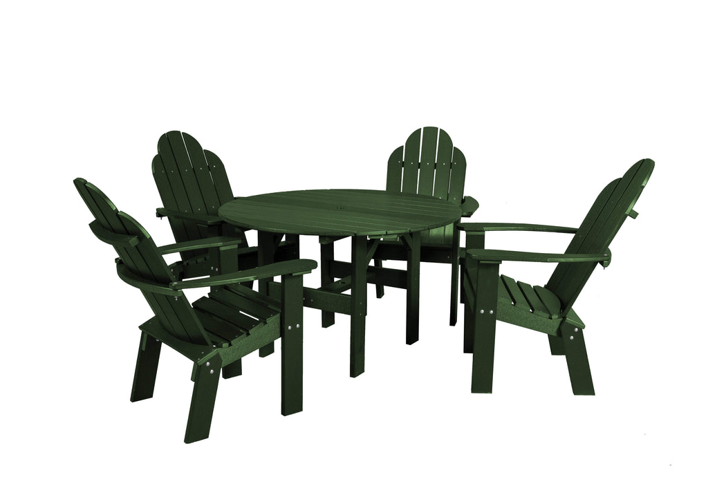 Wildridge Wildridge Classic Recycled Plastic 5 Piece Seating Set Turf Green Dining Sets LCC-280-TG