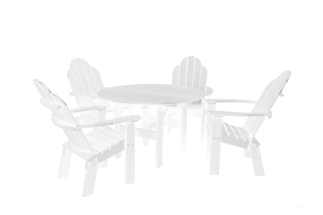 Wildridge Wildridge Classic Recycled Plastic 5 Piece Seating Set White Dining Sets LCC-280-WH