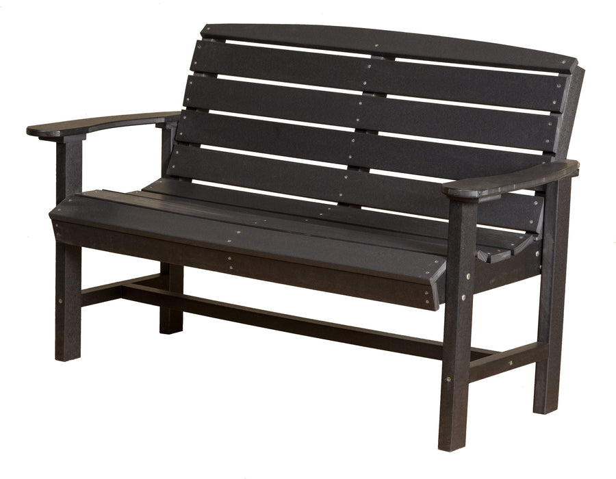 Wildridge Wildridge Classic Recycled Plastic Classic Bench Black Outdoor Bench LCC-226-B