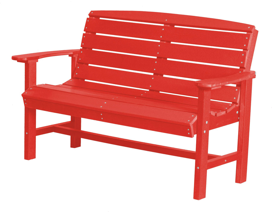 Wildridge Wildridge Classic Recycled Plastic Classic Bench Bright Red Outdoor Bench LCC-226-BR