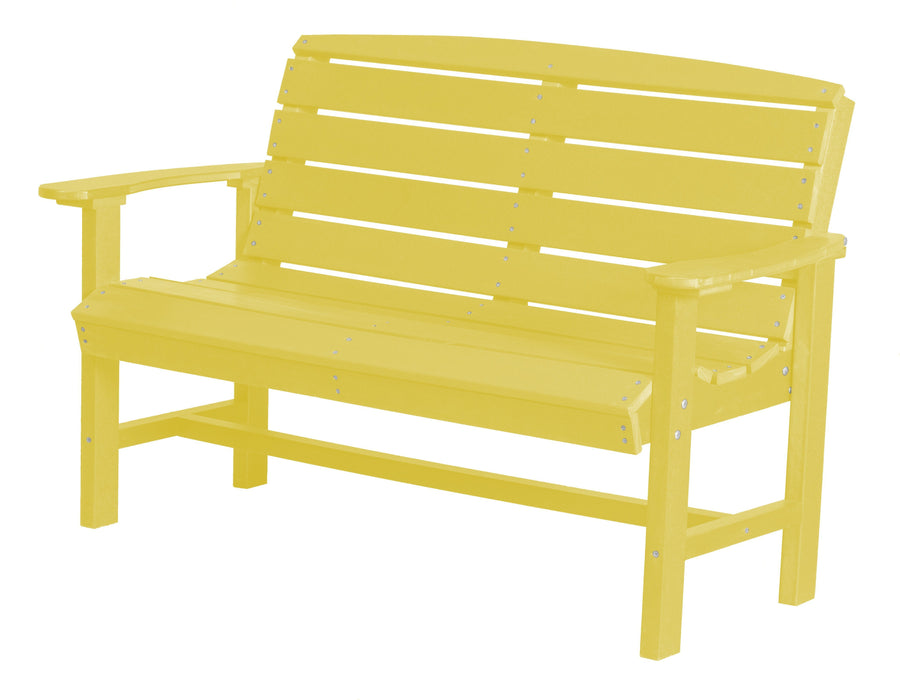 Wildridge Wildridge Classic Recycled Plastic Classic Bench Lemon Yellow Outdoor Bench LCC-226-LY