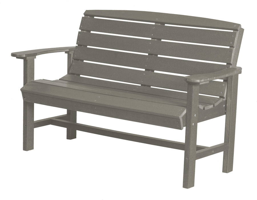 Wildridge Wildridge Classic Recycled Plastic Classic Bench Light Gray Outdoor Bench LCC-226-LG