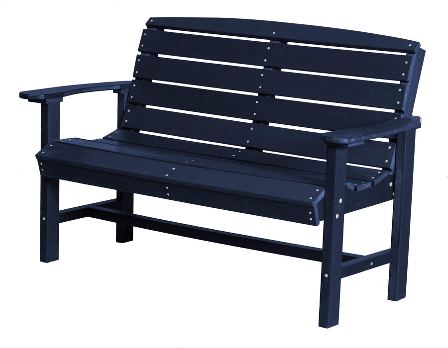 Wildridge Wildridge Classic Recycled Plastic Classic Bench Patriot Blue Outdoor Bench LCC-226-PAB