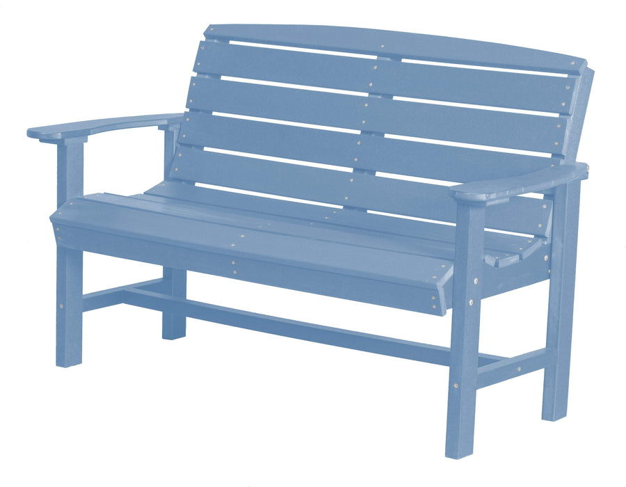 Wildridge Wildridge Classic Recycled Plastic Classic Bench Powder Blue Outdoor Bench LCC-226-POB