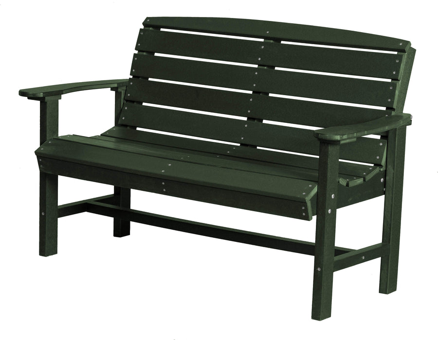 Wildridge Wildridge Classic Recycled Plastic Classic Bench Turf Green Outdoor Bench LCC-226-TG