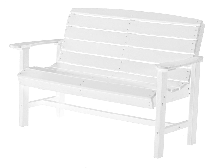 Wildridge Wildridge Classic Recycled Plastic Classic Bench White Outdoor Bench LCC-226-WH