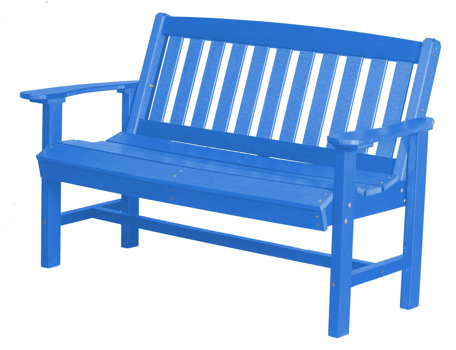 Wildridge Wildridge Classic Recycled Plastic Mission Bench Blue Outdoor Bench LCC-225-BL