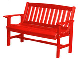 Wildridge Wildridge Classic Recycled Plastic Mission Bench Bright Red Outdoor Bench LCC-225-BR
