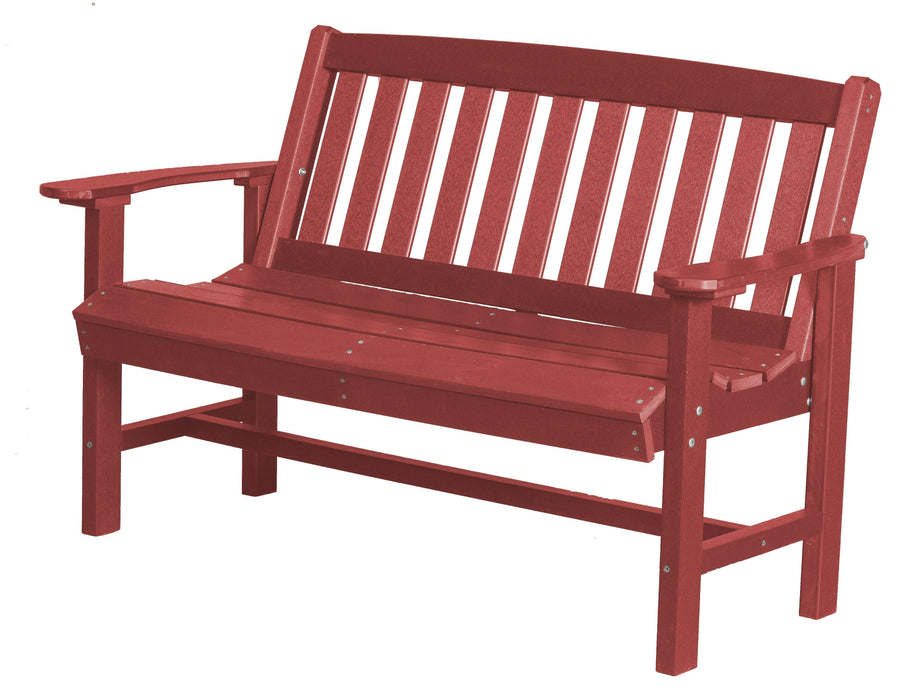 Wildridge Wildridge Classic Recycled Plastic Mission Bench Cardinal Red Outdoor Bench LCC-225-CR