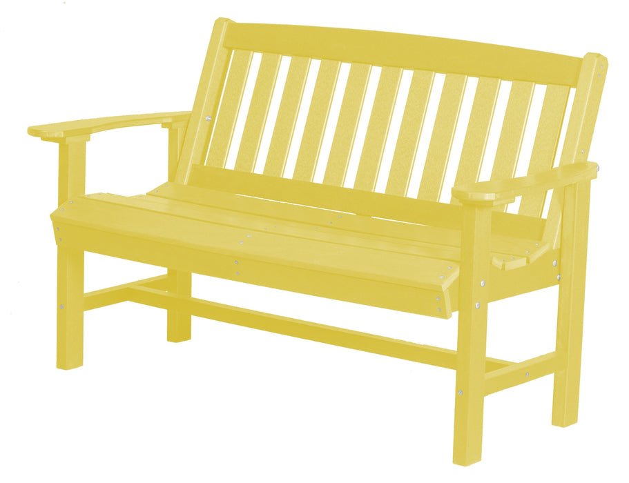 Wildridge Wildridge Classic Recycled Plastic Mission Bench Lemon Yellow Outdoor Bench LCC-225-LY