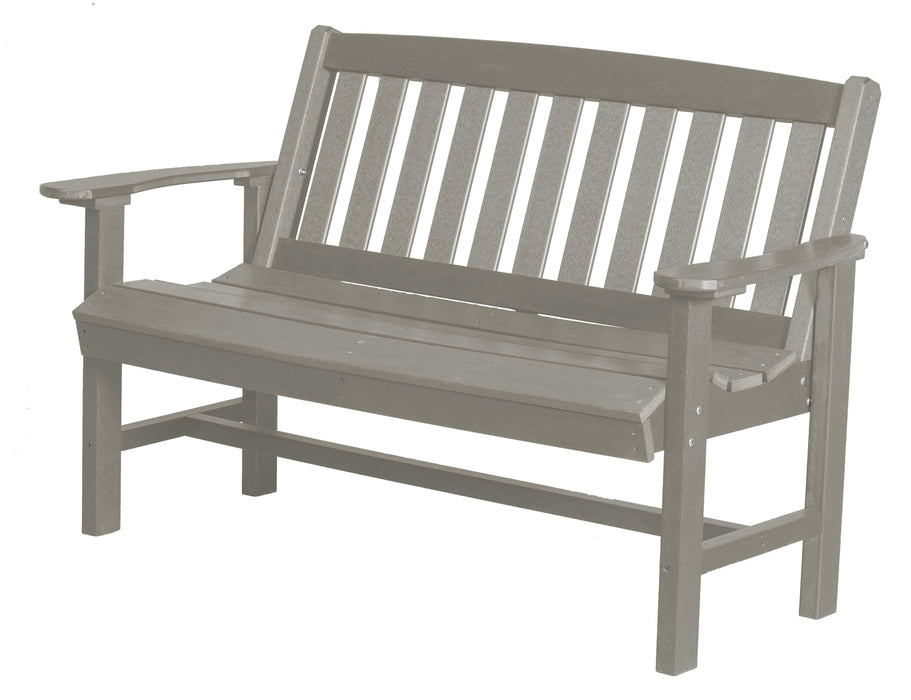 Wildridge Wildridge Classic Recycled Plastic Mission Bench Light Gray Outdoor Bench LCC-225-LG