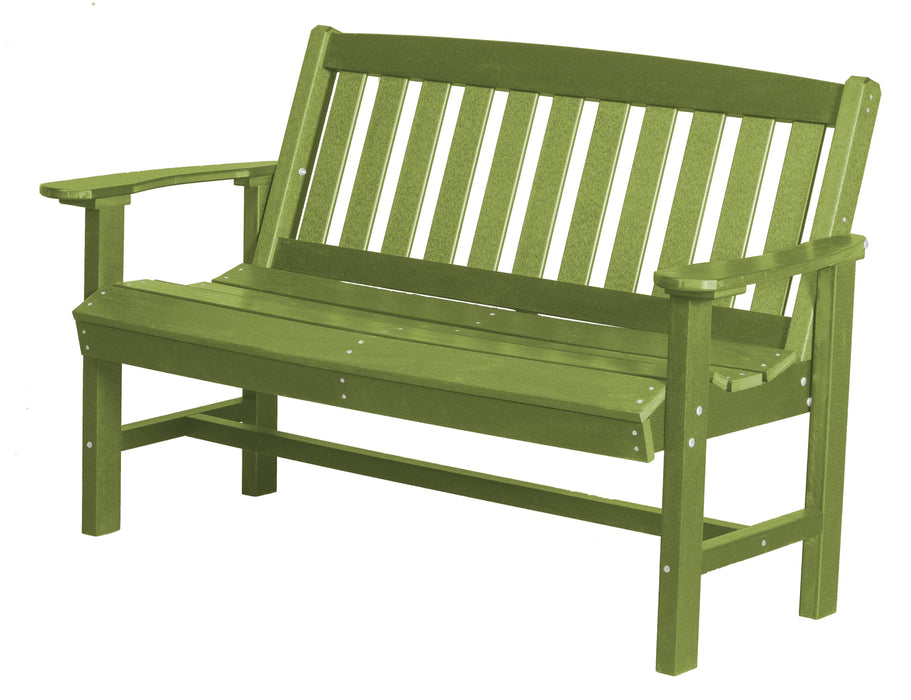 Wildridge Wildridge Classic Recycled Plastic Mission Bench Lime Green Outdoor Bench LCC-225-LG