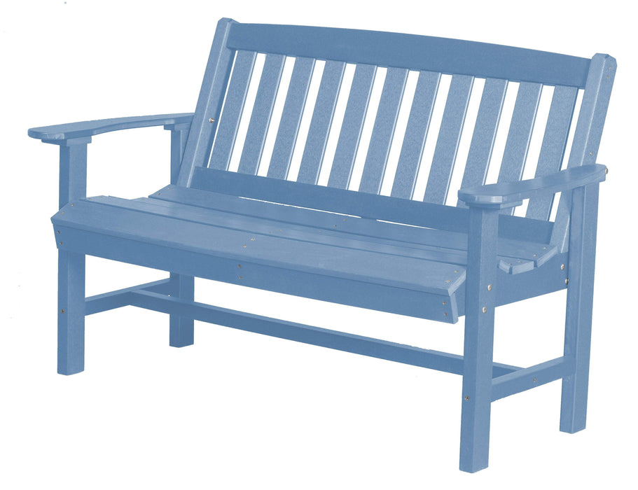 Wildridge Wildridge Classic Recycled Plastic Mission Bench Powder Blue Outdoor Bench LCC-225-POB