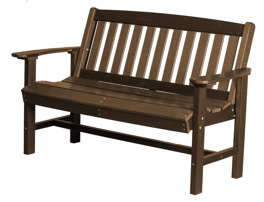 Wildridge Wildridge Classic Recycled Plastic Mission Bench Tudor Brown Outdoor Bench LCC-225-TB