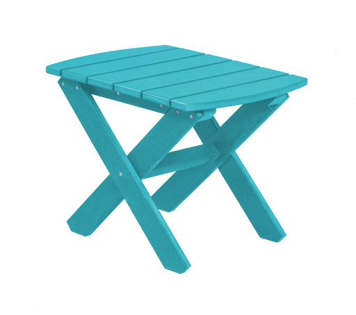 Wildridge Wildridge Classic Recycled Plastic Rectangular Side Table Aruba Blue Side Table LCC-228-AB