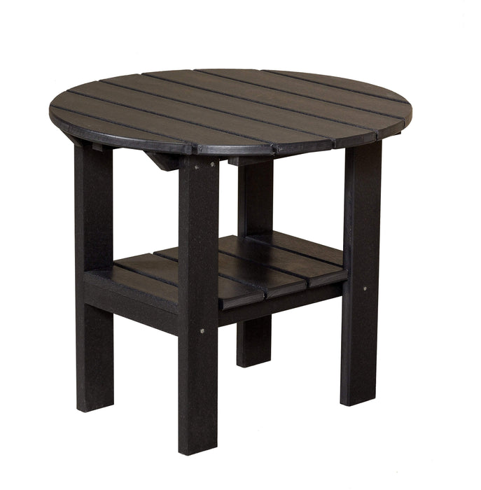Wildridge Wildridge Classic Recycled Plastic Round Side Table Black Side Table LCC-223-B