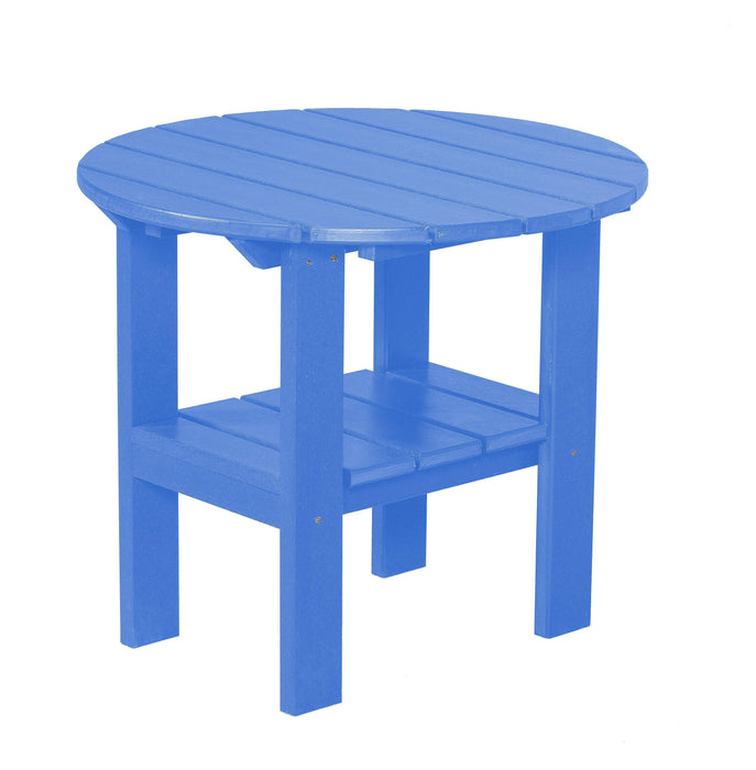 Wildridge Wildridge Classic Recycled Plastic Round Side Table Blue Side Table LCC-223-BL