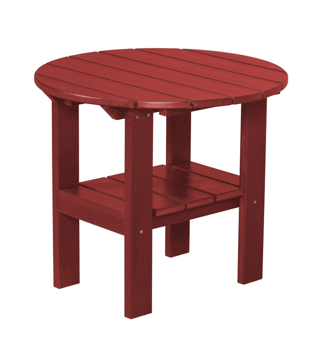 Wildridge Wildridge Classic Recycled Plastic Round Side Table Cardinal Red Side Table LCC-223-CR
