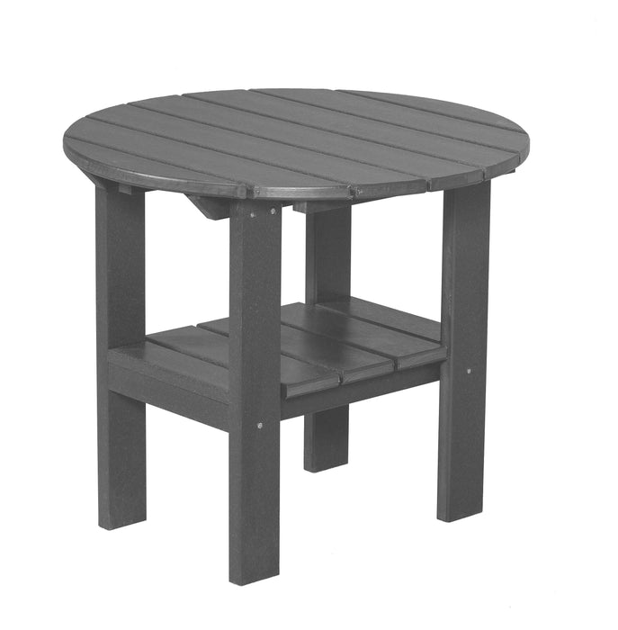 Wildridge Wildridge Classic Recycled Plastic Round Side Table Dark Gray Side Table LCC-223-DG