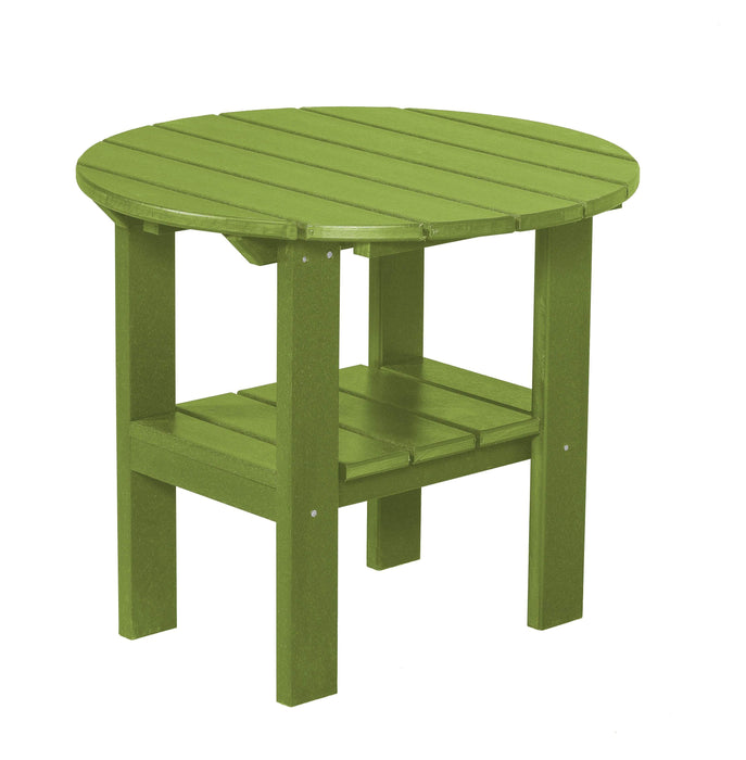Wildridge Wildridge Classic Recycled Plastic Round Side Table Lime Green Side Table LCC-223-LG