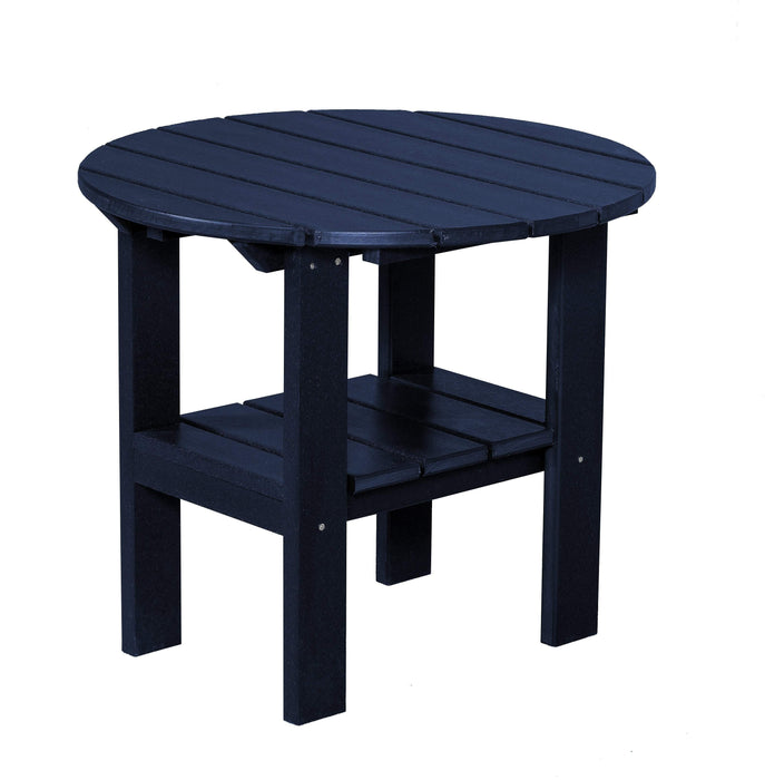 Wildridge Wildridge Classic Recycled Plastic Round Side Table Patriot Blue Side Table LCC-223-PAB