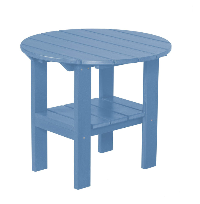 Wildridge Wildridge Classic Recycled Plastic Round Side Table Powder Blue Side Table LCC-223-POB