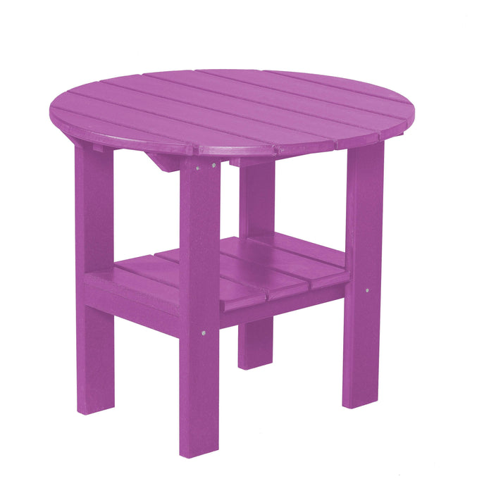 Wildridge Wildridge Classic Recycled Plastic Round Side Table Purple Side Table LCC-223-PU