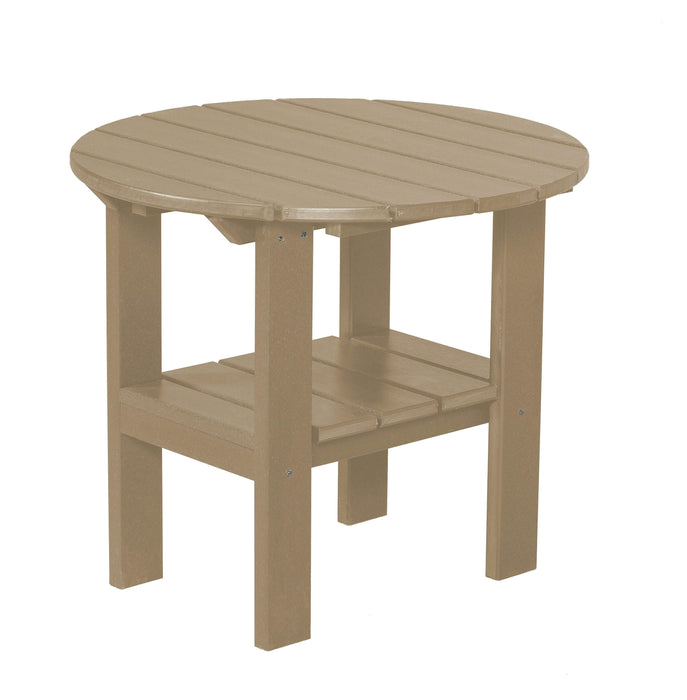 Wildridge Wildridge Classic Recycled Plastic Round Side Table Weatherwood Side Table LCC-223-WW