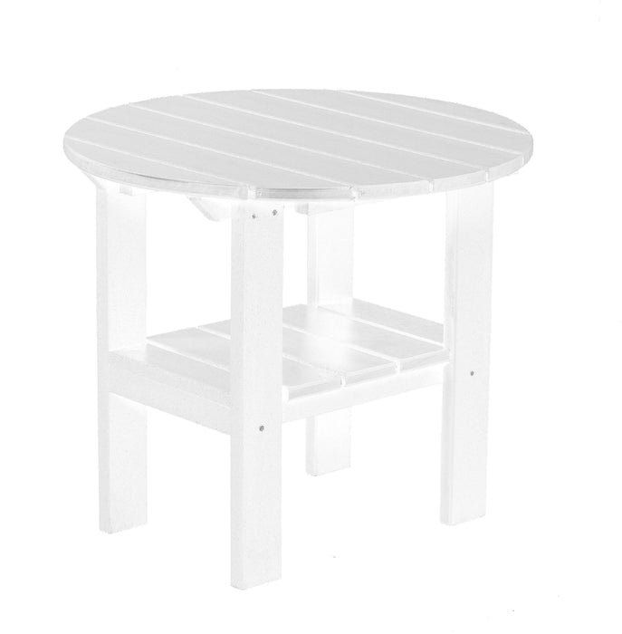 Wildridge Wildridge Classic Recycled Plastic Round Side Table White Side Table LCC-223-WH