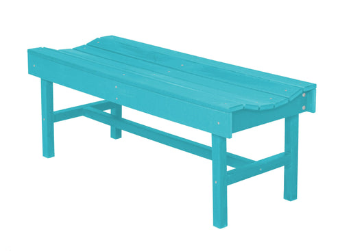 Wildridge Wildridge Classic Recycled Plastic Vineyard Bench Aruba Blue Outdoor Bench LCC-224-AB