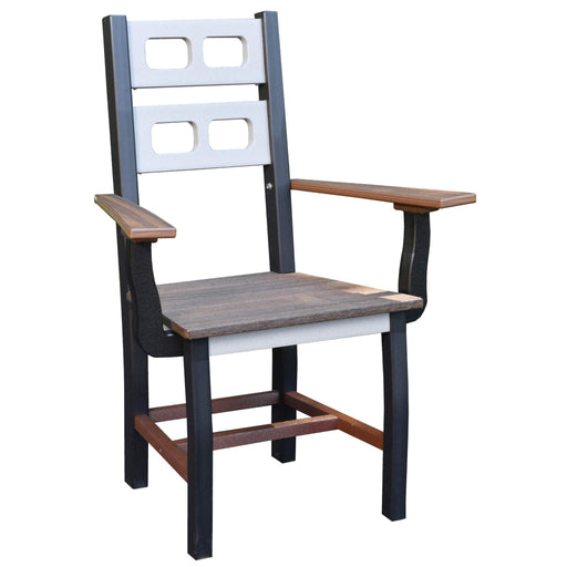 Wildridge Wildridge David Lewis Manhattan Forge Dining Chair with Arms Weatherwood on Tudor Brown Dining Chair LCC-854-WWB