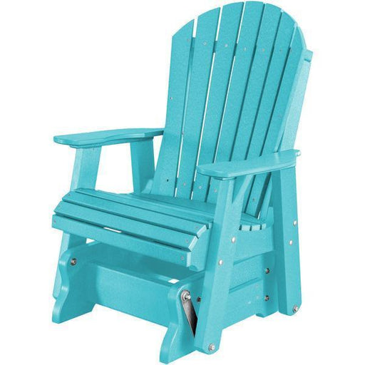 Wildridge Wildridge Heritage 2 ft. Recycled Plastic Single Glider Chair Aruba Blue Outdoor Glider LCC-106-AB