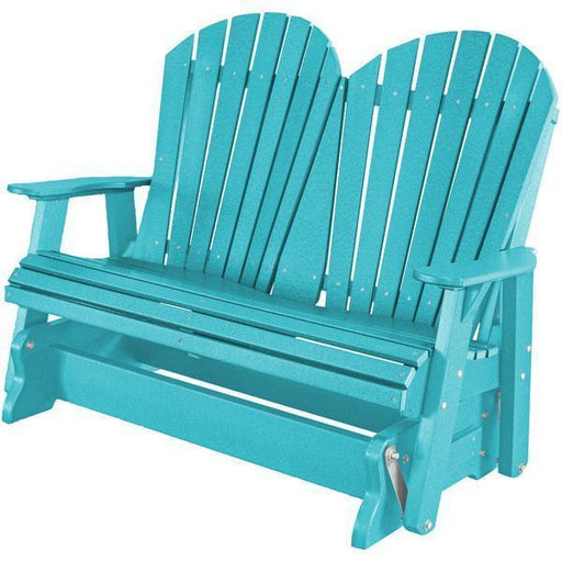 Wildridge Wildridge Heritage 4 ft. Recycled Plastic 2 Seat Glider Chair Aruba Blue Outdoor Glider LCC-104-AB