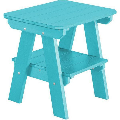 Wildridge Wildridge Heritage Recycled Plastic 2 Tier End Table Aruba Blue End Table LCC-120-AB