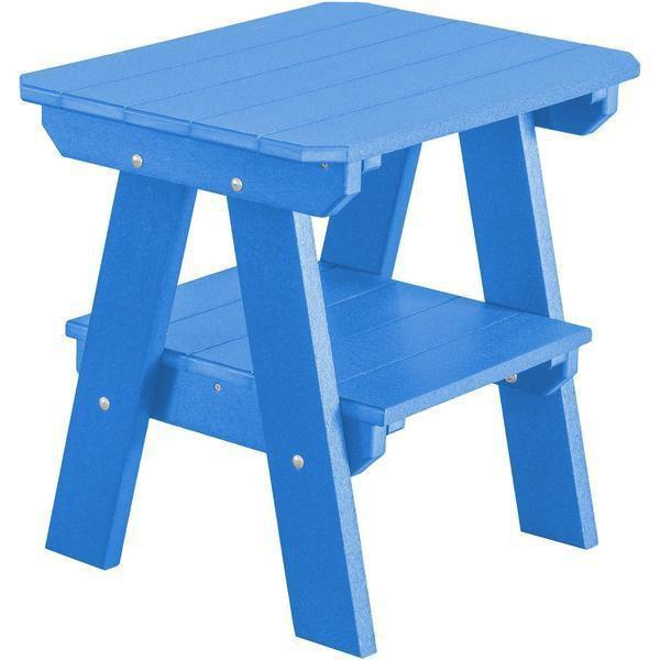 Wildridge Wildridge Heritage Recycled Plastic 2 Tier End Table Blue End Table LCC-120-BL