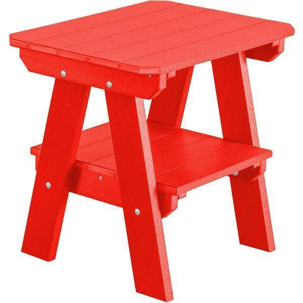 Wildridge Wildridge Heritage Recycled Plastic 2 Tier End Table Bright Red End Table LCC-120-BR