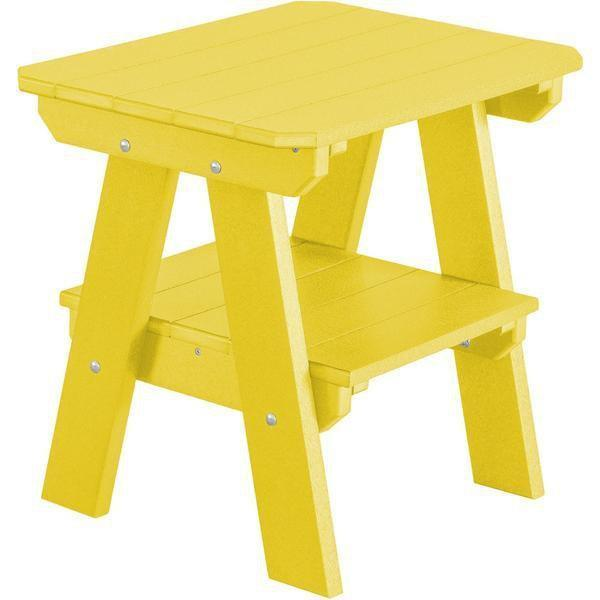 Wildridge Wildridge Heritage Recycled Plastic 2 Tier End Table Lemon Yellow End Table LCC-120-LY