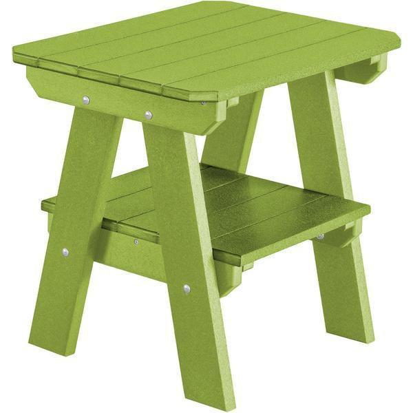 Wildridge Wildridge Heritage Recycled Plastic 2 Tier End Table Lime Green End Table LCC-120-LMG