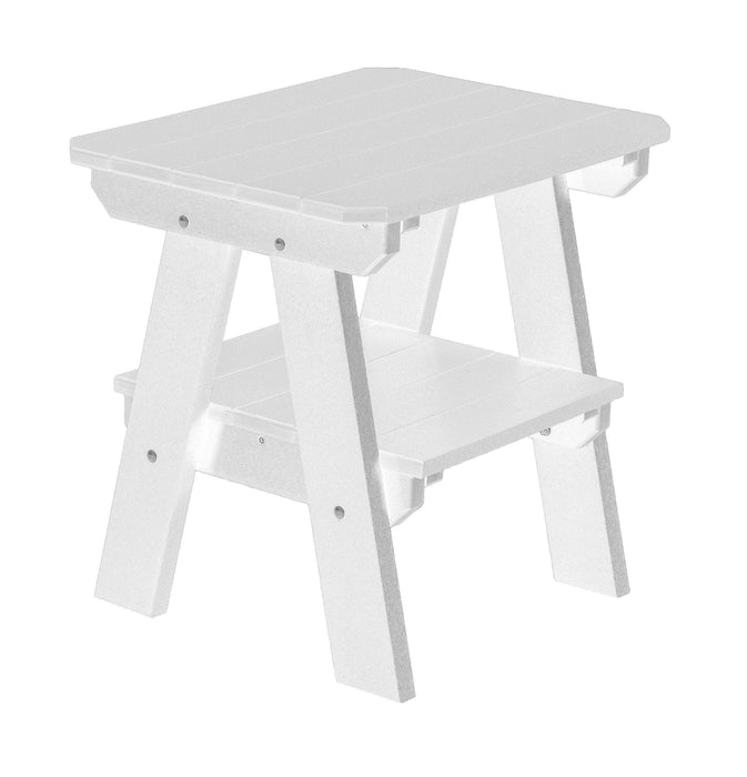 Wildridge Wildridge Heritage Recycled Plastic 2 Tier End Table White End Table LCC-120-WH