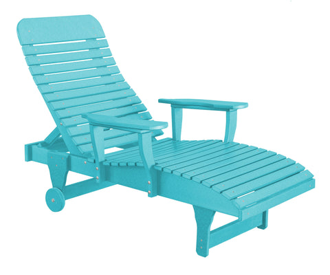Wildridge Wildridge Heritage Recycled Plastic Chaise Lounge Aruba Blue Chaise Lounge LCC-160-AB