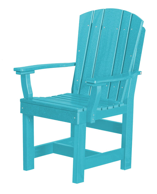 Wildridge Wildridge Heritage Recycled Plastic Dining Chair with Arms Aruba Blue Chair LCC-154-AB