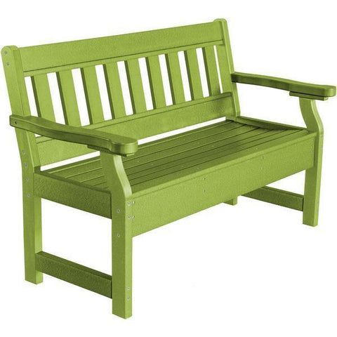 Wildridge Wildridge Heritage Recycled Plastic Garden Bench Lime Green Garden Bench LCC-124-LMG