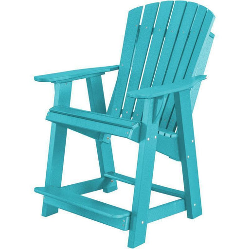 Wildridge Wildridge Heritage Recycled Plastic High Adirondack Chair Aruba Blue Adirondack Chair LCC-119-AB