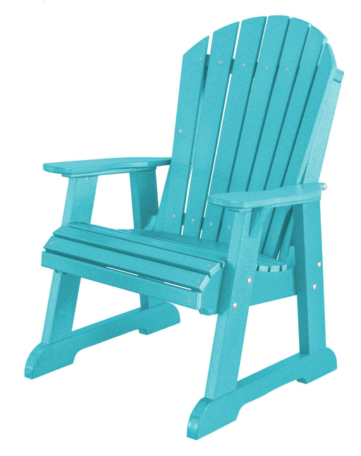 Wildridge Wildridge Heritage Recycled Plastic High Fan Back Chair Aruba Blue Outdoor Chair LCC-117-AB