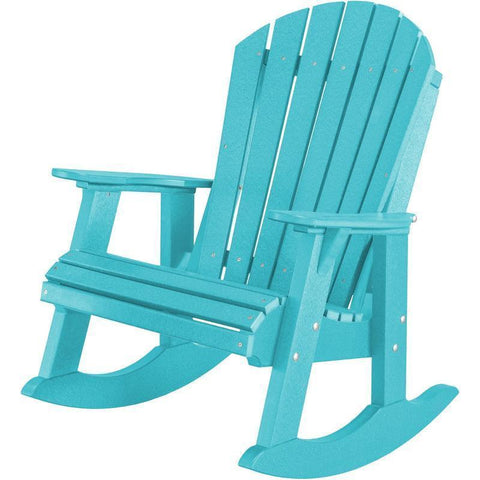 Wildridge Wildridge Heritage Recycled Plastic High Fan Back Rocker Chair Aruba Blue Rocking Chair LCC-115-AB