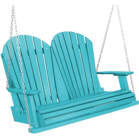Wildridge Wildridge Heritage Two Seat 4ft. Recycled Plastic Porch Swing Aruba Blue Porch Swing LCC-102-AB