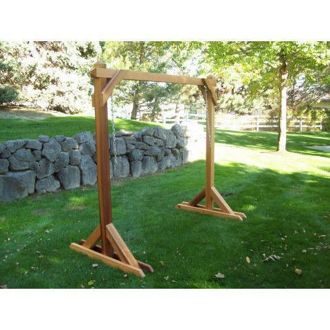Wood Country Wood Country 4ft. Red Cedar Porch Swing Stand Unfinished Porch Swing Stand WCRCSS