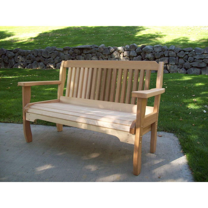 Wood Country Wood Country Cabbage Hill Red Cedar Outdoor Garden Bench 4 Foot / Unstained Outdoor Bench WCCHGB
