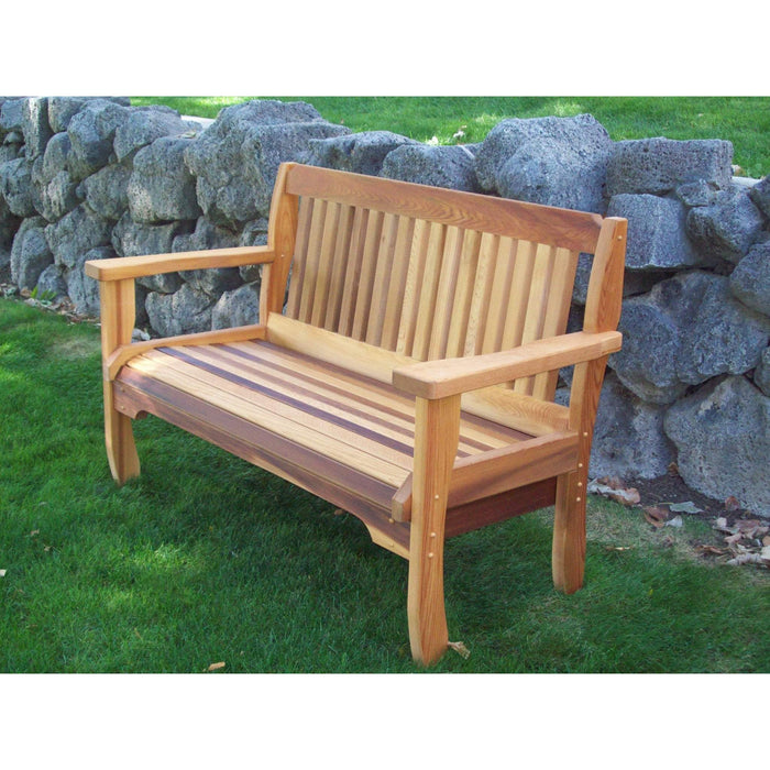 Wood Country Wood Country Cabbage Hill Red Cedar Outdoor Garden Bench Outdoor Bench